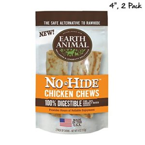 "Earth Animal No-Hide Chicken Chews 4"" 2-Pack"