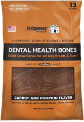 Indigenous Pet Treats Carrot & Pumpkin Bones 13ct
